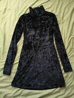 Kimchi Blue Women's Black Velvet Dress Size S Small Good Used Condition