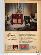1948 PAPER AD Radio Zenith Console Cobra Radionic Wave FM Radiorgan Tone Control