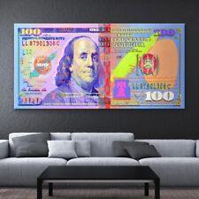 Print Oil Painting Positive Dollar Money Home Wall Art Decor on Canvas 24x48