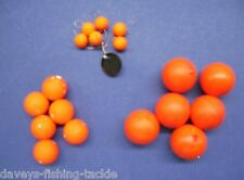 18 MIXED POPPER BEADS 10 18 25 mm DEAD BAIT POP UP PIKE IN LINE FLOAT FLOATING