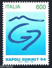 ITALIA UN FRANCOBOLLO VERTICE DEI G7 NAPOLI SUMMIT 1994 nuovo**