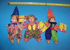 Beanie Clowns  (Set of Three)  Bean Bag Kids Series IV