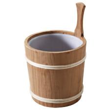 Aufgusseimer 5 L Thermoespe mit Holzring Kunststoffeinsatz Saunakübel Kübel