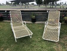 Vintage Mid Century Brown Jordan Patio High Back Lounge Chairs