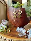 Mushroom Earrings With Celestial Moon, Wanderlust Jewelry, Hypoallergenic
