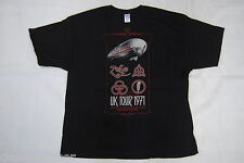 LED ZEPPELIN UK TOUR 1971 T SHIRT NEW OFFICIAL PLANT PAGE JONES BONHAM