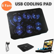 7-17'' 6 Fans Universal Laptop Cooling Pad Cooler Fan Stand For 15.4