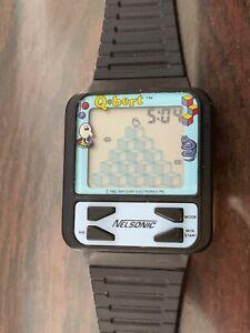 1983 Nelsonic Qbert Digital Watch Working Video Game