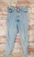 Vintage 80s Sasson Size 14 High Waisted Acid Wash Jeans