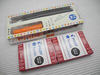 Pilot Kakuno Smile FKA-1SR Fountain Pen Medium Nib + 12 IC-50 BK Cartridges, O