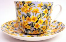 Blossom Large Cup & Saucer Fine Bone China Floral Breakfast Set Hand Decorate UK