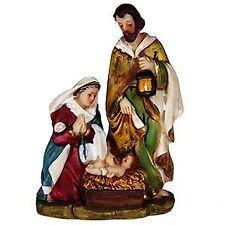 10CM HOLY FAMILY NATIVITY SCENE JESUS MARRY JOSEPH Christmas Xmas set