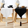 mugs store Table Cover Table Runner Dresser Scarf  with Tassel Home Decor