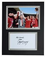 Tommy Docherty Signed Autograph 10x8 photo display Man Utd AFTAL COA