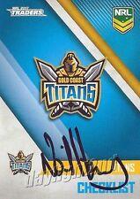 ✺Signed✺ 2017 GOLD COAST TITANS NRL Card NEIL HENRY