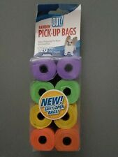 "Out! Dog Waste Pick-Up Bags 9""×12"" Rainbow -Unscented 8 Rolls x15 =120 ct Refill"