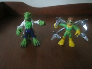 Hasbro Playskool Marvel Super Hero Adventures The Lizard Dr. Connors & Doc Oct