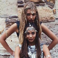 Bohemian Women Drop Head Chain Jewelry Forehead Dance Headpiece Hair Band