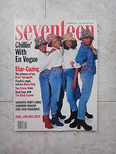 Seventeen Magazine December 1992 vintage women fashion teen En Vogue, Tom Cruise