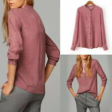 US New Fashion Women's Summer Loose Tops Long Sleeve Shirt Casual Blouse T-Shirt