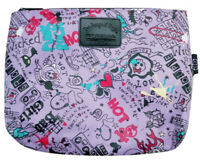Tween Girls Pencil  or Cosmetic Bag - Purple - Girls Rock Graffiti Print