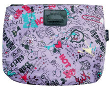 Tween Girls Pencil  or Cosmetic Bag - Purple - Girls Rock Graffiti Print