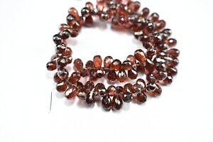 6-8 MM 9 Strand Red Garnet Teardrop Beads Natural Garnet Teardrop Gemstone Briolette Garnet Faceted Drop Briolette RGP71-04