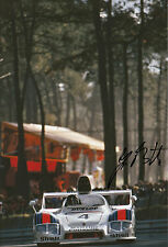 Jurgen Barth Martini Porsche 936 Hand Signed 12x8 Photo Le Mans 1977 5.
