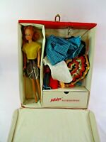 Vintage Barbie Midge Doll w/ Red Case & Outfits Some HomeMade Fashions Clothing