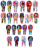 Boys Girls Kids Official Licensed Character Various Fleece Long Sleeve Pyjamas