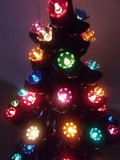 50 Ceramic Christmas tree Flower lite Bulbs