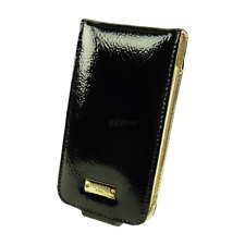 Pipetto-Harlequin case-flip case-bolsa-apple-iPhone 4 4s-negro