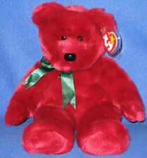 TY CRANBERRY the TEDDY BEAR BEANIE BUDDY  - MINT with MINT TAGS