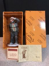 New Rare Emmett Kelly Jr Flambro Miniature Figurine 1984 Vtg Looking Out To See