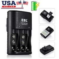 EBL Rapid Smart Charger for 9V AA AAA NiMH NiCD Rechargeable Battery ( 3 in 1 )
