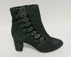 David Tate Mood Ankle Booties, Black Suede, Women's 7 Wide