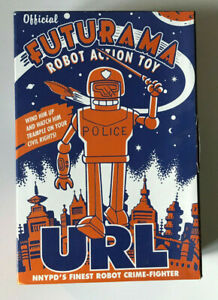 FUTURAMA ROBOT POLICE URL WIND-UP ROBOT ACTION TOY NEW IN BOX ROCKET USA 2001