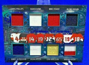 2020-21 Leaf In the Game Used Hockey Ottawa Senators Eight Patch Card #2/7!