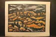 "Gertrude Weibe Mihsfeldt 1901-1989, "" California Gold "", Signed Serigraph 1948"