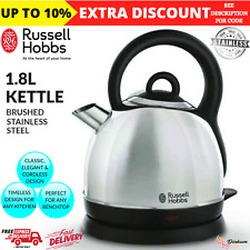 1.8L Russell Hobbs Electric Cordless Dome Kettle Pull Off Lid Stainless Steel