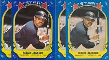 1981 FLEER BASEBALL STICKER LOT (4) REGGIE JACKSON #115 & CHECKLIST NMMT *52984