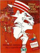 1968 WINSTON Cigarettes BOB PEAK illustration artist Vintage Print Ad