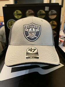 Oakland Raiders Fanatics Greyscale Contender Stretch Fit Hat M/L