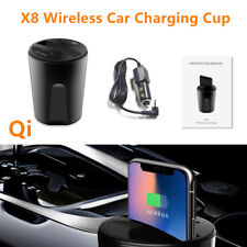 Car Wireless Cup Style Fast Charger USB Charging Dock for Iphone X /8 Samsung S8