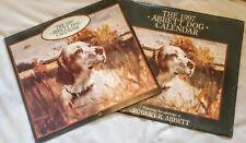 Vintage 1997 Robert K. Abbett Hunting Dog Calendar w/ Stamp And Cover/Sleeve