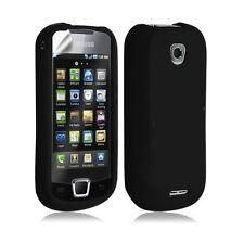 Housse étui coque silicone pour Samsung Galaxy Teos i5800 couleur noir + film