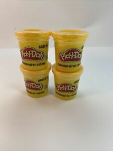 4 Play-Doh Modeling Compound 3oz Ages 2+ Yellow  Pack Of 4