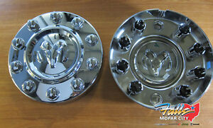 2011-2018 Dodge Ram 4500 5500 Front Chrome Center Cap Replacement Set of 2 OEM