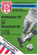 II. BL 91/92 Hallescher FC - SV Darmstadt 98, 11.04.1992
