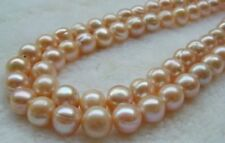 "NATURAL 12-13MM pink freshwater cultured pearl loose beads 15"" JN202"